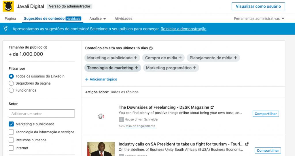 LinkedIn Conteúdo